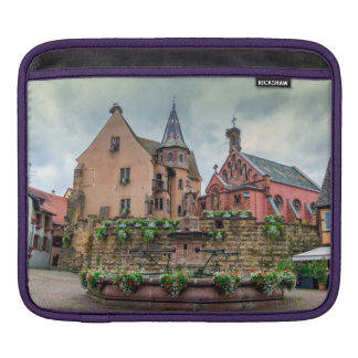 Saint-Leon fountain in Eguisheim, Alsace, France Sleeves For iPads