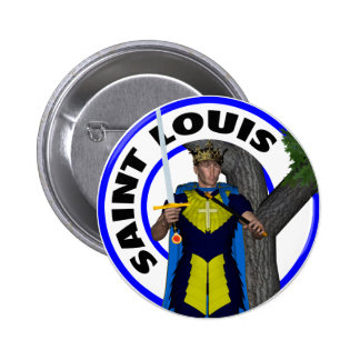 Saint Louis IX King of France 6 Cm Round Badge