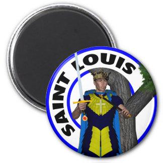 Saint Louis IX King of France 6 Cm Round Magnet