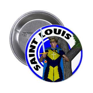 Saint Louis IX King of France Pinback Button