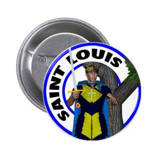 Saint Louis IX King of France Button