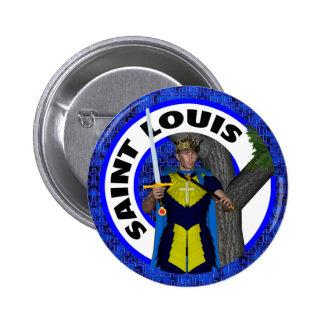 Saint Louis IX King of France 6 Cm Round Badge