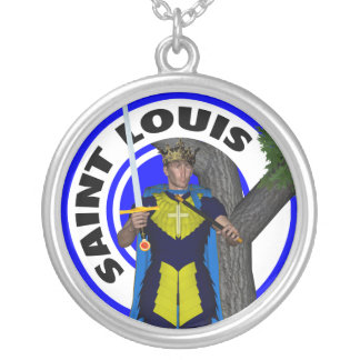 Saint Louis IX King of France Round Pendant Necklace