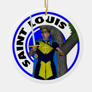 Saint Louis IX King of France Round Ceramic Decoration