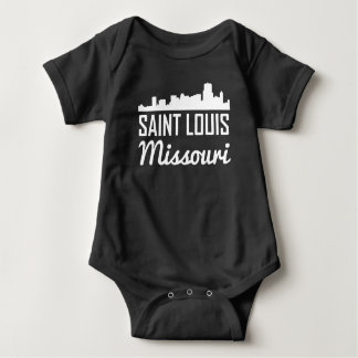 Saint Louis Missouri Skyline Baby Bodysuit