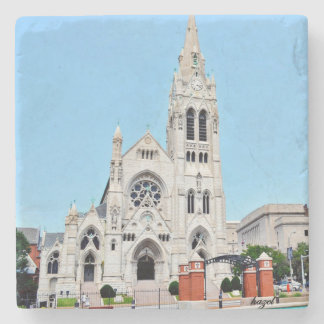 Saint Louis,St Francis Xavier church Coaster. Stone Coaster