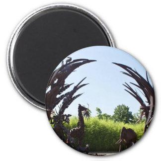 Saint Louis Zoo Sculpture 6 Cm Round Magnet