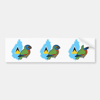 Saint Lucia Amazon Flag Bumper Sticker