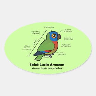 Saint Lucia Amazon Statistics Stickers