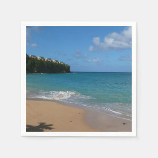 Saint Lucia Beach Tropical Vacation Landscape Disposable Serviette