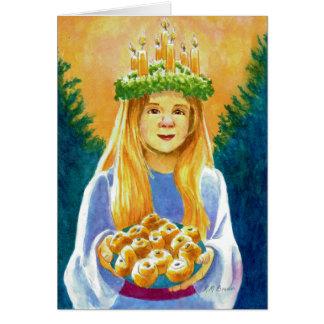 Saint Lucia Candle Wreath Card