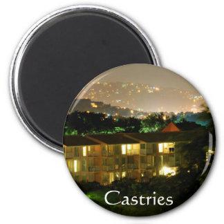 Saint Lucia Castries 6 Cm Round Magnet