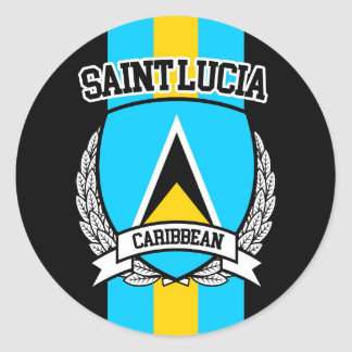 Saint Lucia Classic Round Sticker