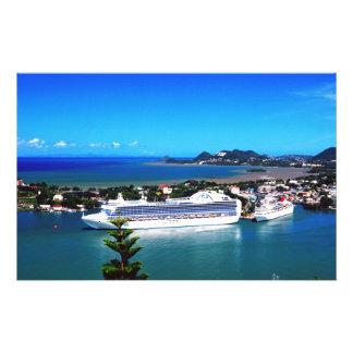 Saint Lucia, cruise ship Customized Stationery