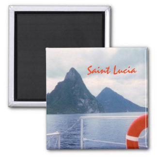 Saint Lucia Custom Magnet