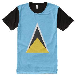 Saint Lucia Flag All-Over Print T-Shirt