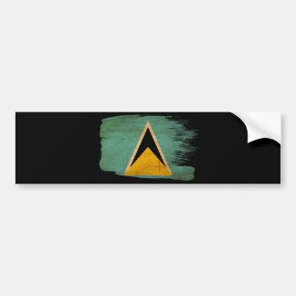 Saint Lucia Flag Bumper Sticker