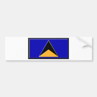 Saint Lucia Flag Bumper Stickers