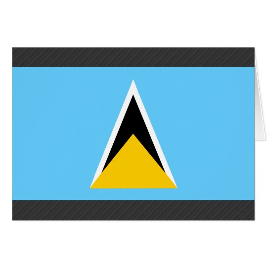 Saint Lucia Flag Card