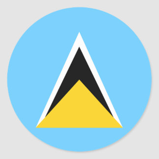 Saint Lucia Flag Classic Round Sticker
