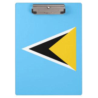 Saint Lucia Flag Clipboard