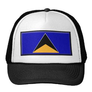 Saint Lucia Flag Mesh Hats