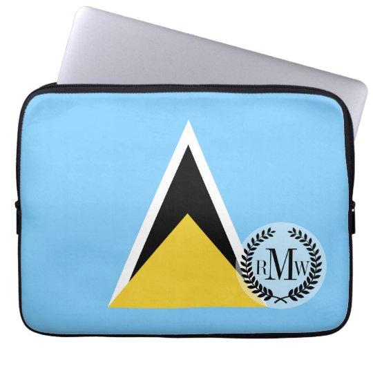 Saint Lucia Flag Laptop Sleeve