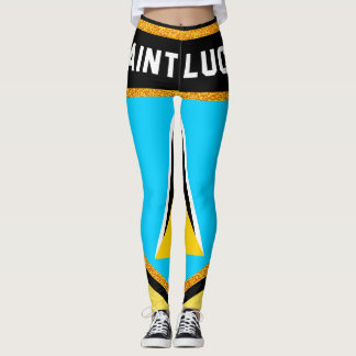 Saint Lucia Flag Leggings