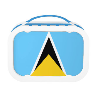 Saint Lucia Flag Lunch Box