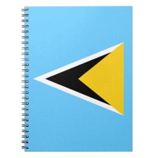 Saint Lucia Flag Notebook