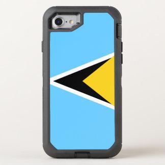 Saint Lucia Flag OtterBox Defender iPhone 8/7 Case