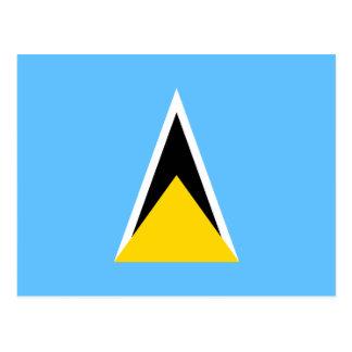 Saint Lucia Flag Postcard