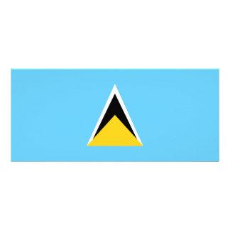 Saint Lucia Flag Rack Card