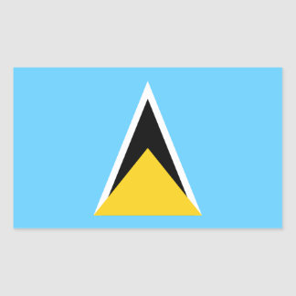 Saint Lucia Flag Rectangular Sticker