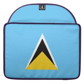 Saint Lucia Flag Sleeves For MacBooks
