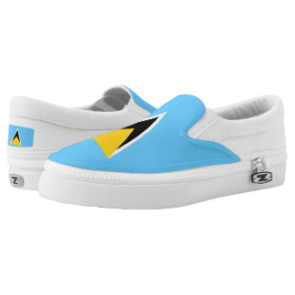 Saint Lucia Flag Slip-On Shoes
