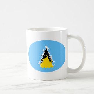 Saint Lucia Gnarly Flag Mug
