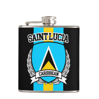 Saint Lucia Hip Flask