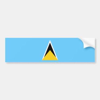 Saint Lucia/Lucian Flag Bumper Sticker