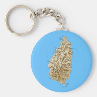 Saint Lucia Map Keychain