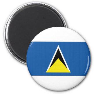 Saint Lucia National Flag 6 Cm Round Magnet
