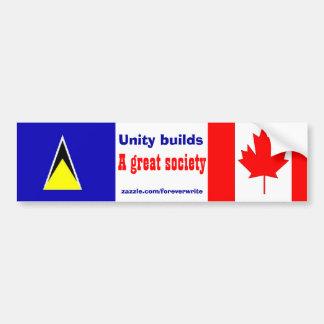saint lucian canadian car bumper sticker