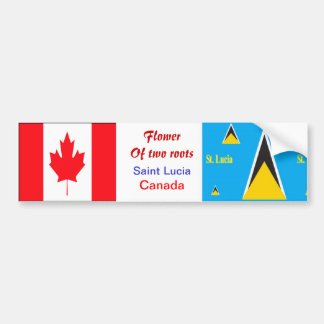 Saint lucian-canadian bumper stickers