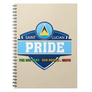 Saint Lucian Pride Logo Notebook