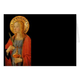 Saint Lucy Lucia c1470 Card
