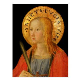 Saint Lucy Lucia c1470 Postcard