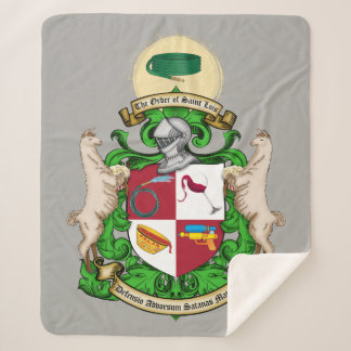 Saint Luis Coat of Arms Sherpa Blanket