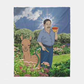 Saint Luis in the Garden Fleece Blanky