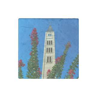 Saint Luke tower in Mostar, Bosnia and Herzegovina Stone Magnet