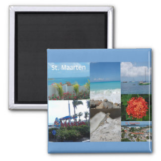 Saint Maarten Photo Collage by Khoncepts Magnet